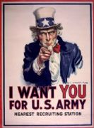 Vintage WWII Military Poster - I Want You For U.S. Army